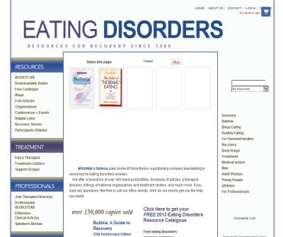 bulimia.com specializing in resources for eating disorders recovery