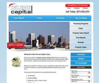 Main Source Capital Commercial Real Estate Lending