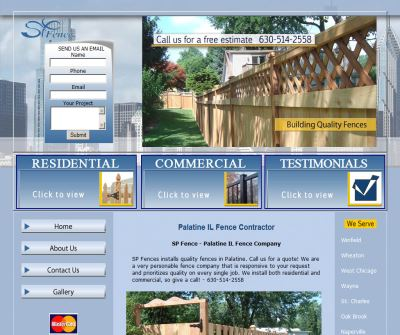 Palatine IL Fence Contractor, SP Fence Company Palatine Illinois