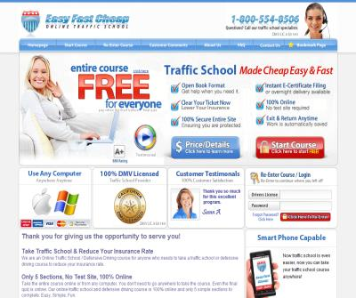 Easy Online Court Approved Traffic School and Defensive Driving Course California DMV Traffic Ticket School