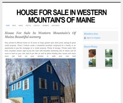 Country home for sale in western mountain's of Maine