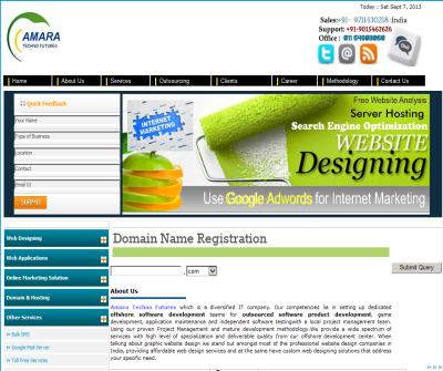 Amara Techno Futures ,Web hosting company in India