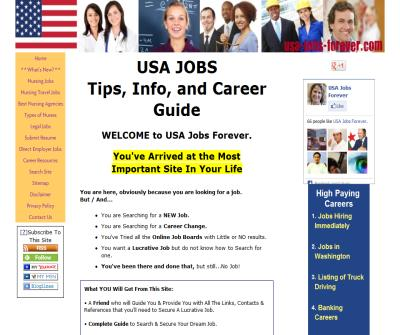 Guide to Lucrative USA Jobs, with helpful Info and Tips