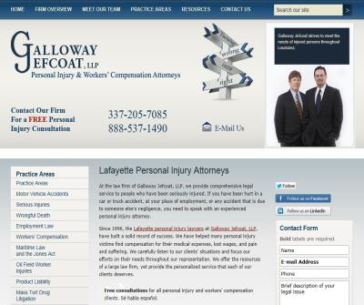 Galloway & Jefcoat, LLP, Robert M. Martina