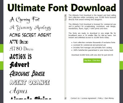 Ultimate Font Download