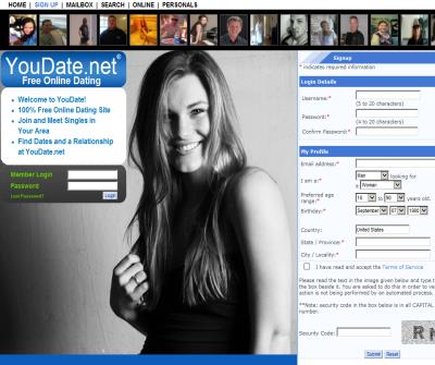 YouDate.net Free Dating Site, Free Dating Online
