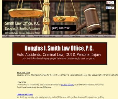 Douglas J. Smith Law Office, P.C. in Norman Oklahoma since 1990