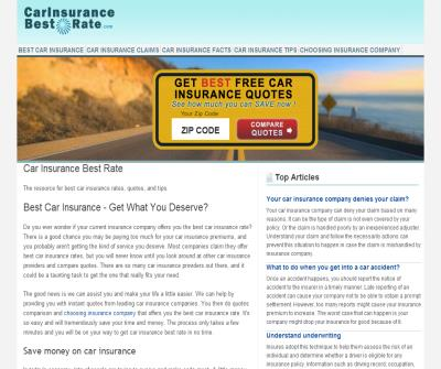 Car Insurance Best Rate