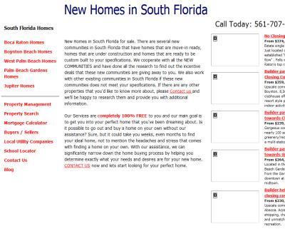 South Florida New Construction Homes