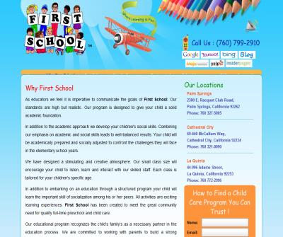Child Care Programs - First School