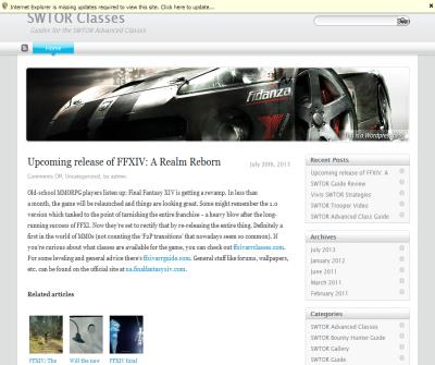 SWTOR Classes fan site is available
