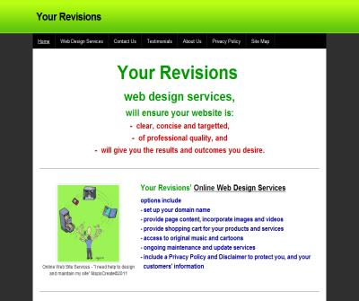 Your Revisions Web Design Services, Article Writing & SEO Articles, Editing and Proofreading Services
