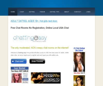 Chatting easy - Free chat rooms no registration, usa chat