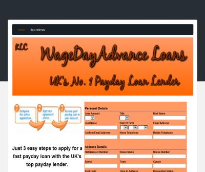WageDayAdvance UK's No. 1 Payday loan lender.