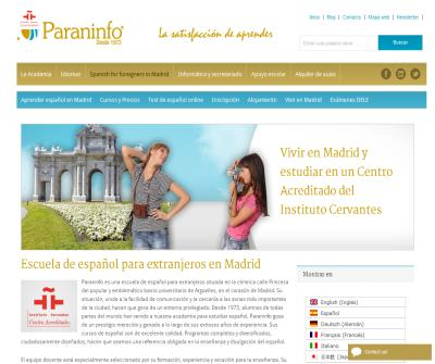 Paraninfo Spanish Courses in Madrid