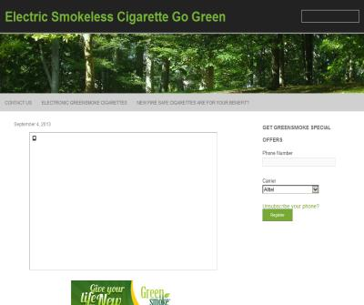Go Green with Smokeless Cigarettes