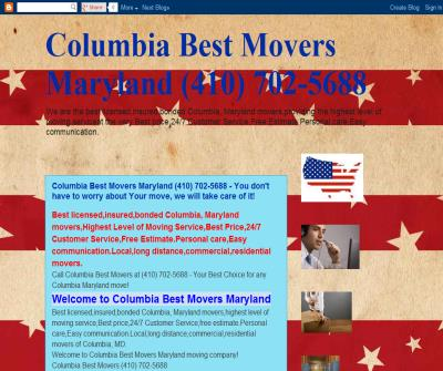 Columbia Best Movers Maryland