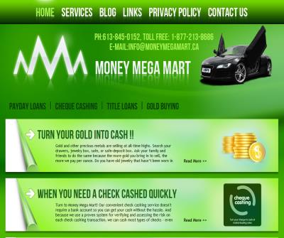 Money Mega Mart - Payday Loans - Cheque Cashing- Title Loans