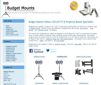 LCD / LED TV wall mounts,display stands and projector mounts