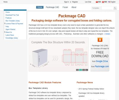 Packmage carton box packaging design software