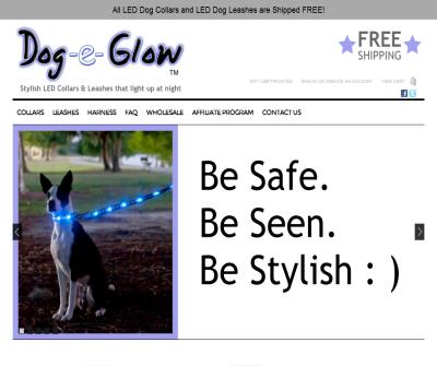 Dogeglow.com offers Lighted and Fashionable Dog Collars and Leashes which provides Dog safety and Visibility
