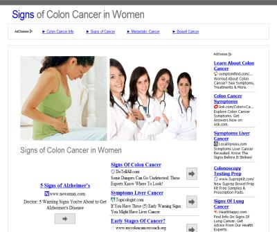 Signs of Colon Cancer in Women