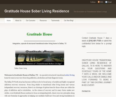 Gratitude House Dallas TX Upscale Sober Living Home