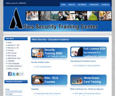 Security Training, Security Courses, First Aid Training
