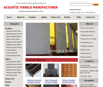 Acoustic Panels Manufacturer