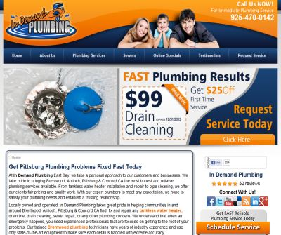 In Demand Plumbing - Pittsburg Plumbers