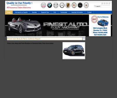 Finest Auto Body & Paint, Houston Tx