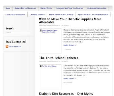 Diabetic Diet Resources