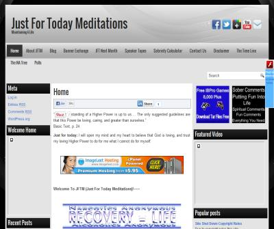 Just For Today Meditations Maintaining A Life