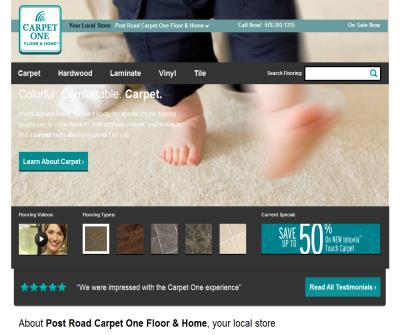 Post Road Carpet has eco-friendly discount carpet tiles