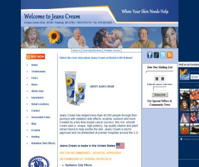 Jeans Cream for Radiation Side Effects