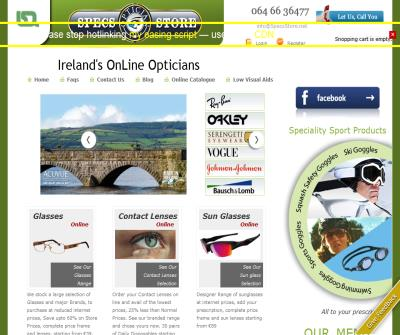 Online Glasses Ireland: Reading Glasses, Sunglasses & more..