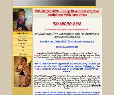 ISO-MICRO-GYM no exercise equipment - burn fat &build muscle