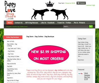 Puppy Love Texas Dog Boutique Premier Dog Clothes Trendy Luxury Fashion Dog Store in Beaumont