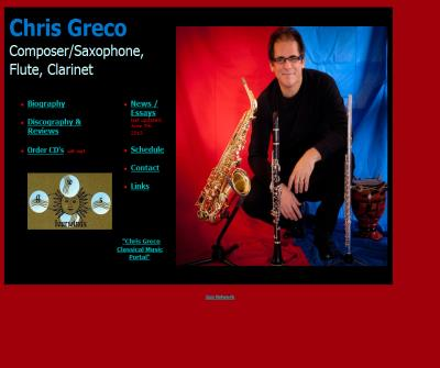 Chris Greco - saxophonist, clarinetist, professor of music