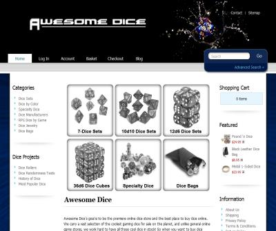 Awesome Dice Store