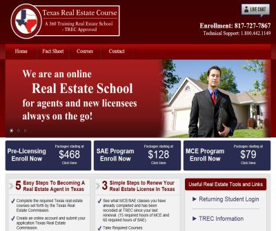 Texas Real Estate School - Pre-License - MCE - SAE