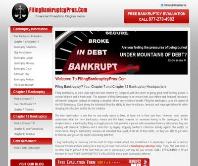 Filing Bankruptcy Pros