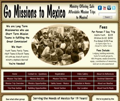 Ministry Offering Safe Affordable Missions Trips to Mexico