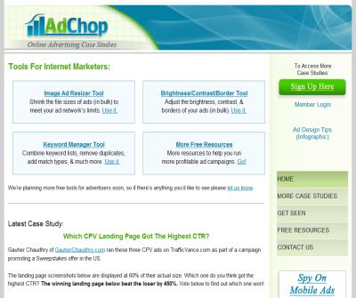 AdChop.com - Online Advertising Case Studies