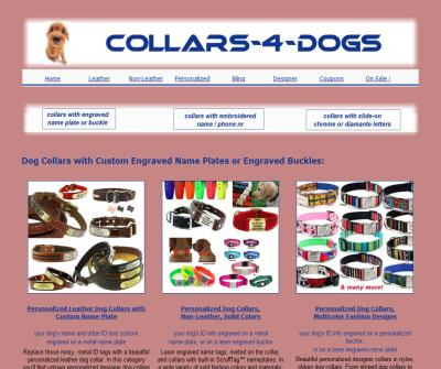 Personalized Dog Collars and Leashes