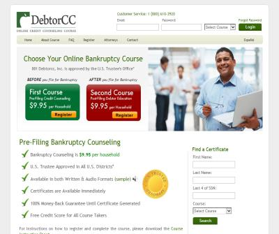 Pre-Filing Bankruptcy Credit Counseling