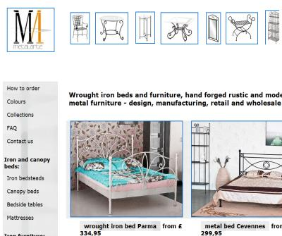 Iron beds and furniture of Metalarte