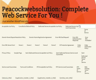 peacockwebsolution