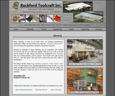 Heavy Stamping at Rockford Toolcraft Inc