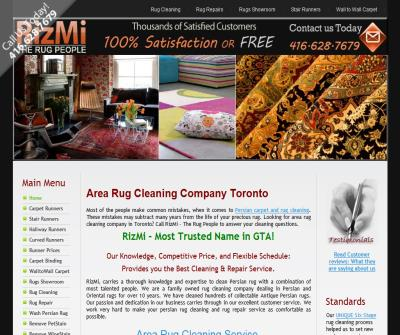 Area Rug Cleaning Toronto - RizMi - Toronto Rug Cleaners